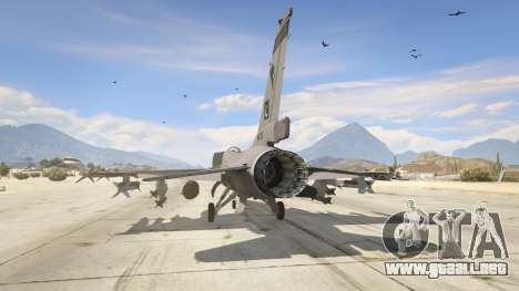 GTA 5 F-16C Block 52 tercera captura de pantalla