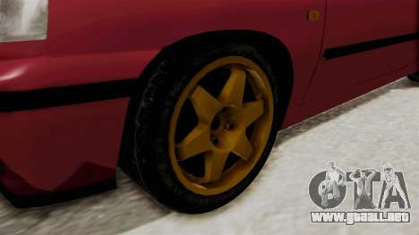 Renault Clio Williams para GTA San Andreas vista hacia atrás