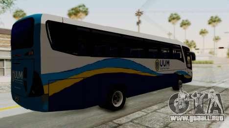 Marcopolo UUM Bus para GTA San Andreas vista posterior izquierda