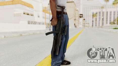 MP5SD with Grenade Launcher para GTA San Andreas tercera pantalla