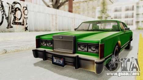 GTA 5 Dundreary Virgo Classic Custom v1 para la visión correcta GTA San Andreas