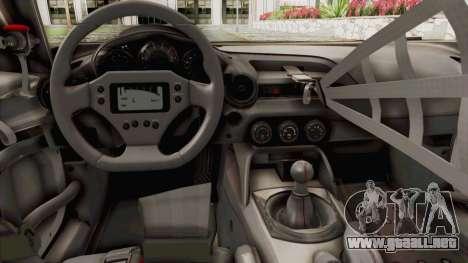 Mazda MX-5 Cup 2015 v2.0 para visión interna GTA San Andreas