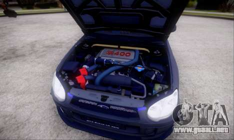 Subaru impreza WRX STi LP400 v2 para vista lateral GTA San Andreas