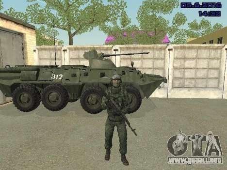 Modern Russian Soldiers pack para GTA San Andreas tercera pantalla