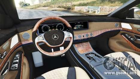 GTA 5 Mercedes-Benz S500 (W222) [yokohama] v2.1 delantero derecho vista lateral