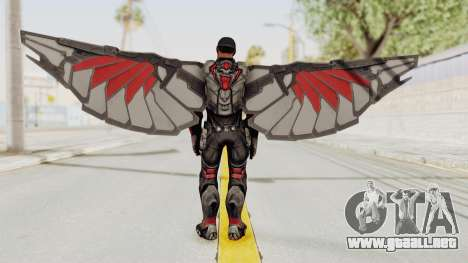 Captain America Civil War - Falcon para GTA San Andreas tercera pantalla