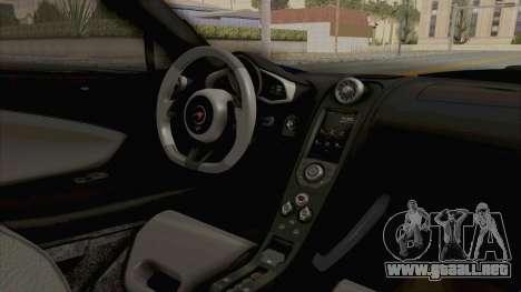 McLaren 675LT Coupe v1.0 para visión interna GTA San Andreas