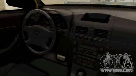 Toyota Hilux Expressway Patrol para visión interna GTA San Andreas