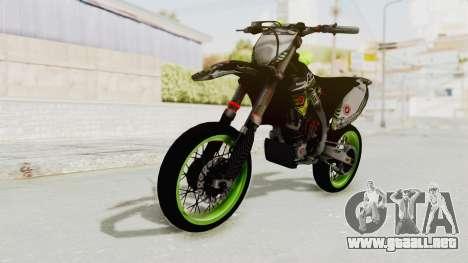 Kawasaki KX 125 Supermoto para la visión correcta GTA San Andreas