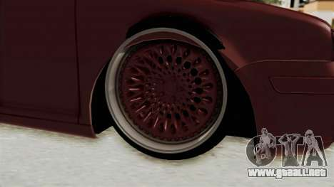 Volkswagen Golf Mk4 V5 Edited para GTA San Andreas vista hacia atrás