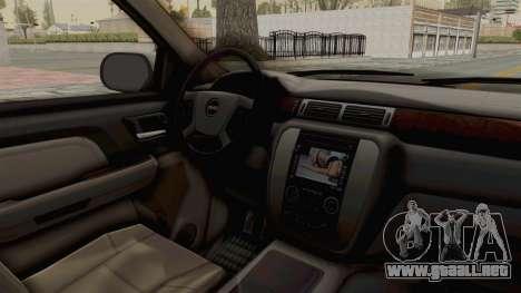 GMC Sierra 2010 para visión interna GTA San Andreas