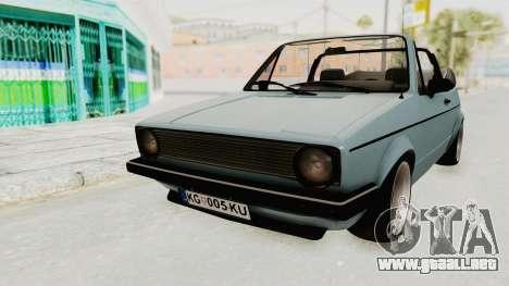 Volkswagen Golf 1 Cabrio VR6 para GTA San Andreas