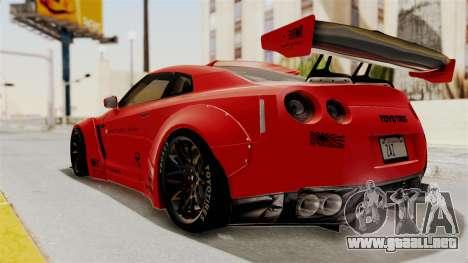 Nissan GT-R R35 Liberty Walk LB Performance v2 para GTA San Andreas left