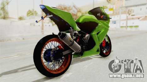 Kawasaki Ninja 250R Asian Style para GTA San Andreas left