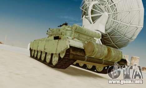 EL T-72A para GTA San Andreas vista posterior izquierda