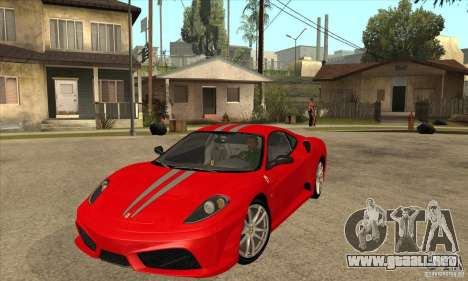 Ferrari F430 Scuderia BULKIN EDITION para GTA San Andreas vista posterior izquierda
