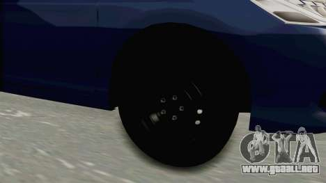 Honda Accord 2017 para GTA San Andreas vista hacia atrás