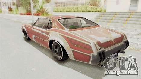 GTA 5 Declasse Sabre GT2 para GTA San Andreas interior