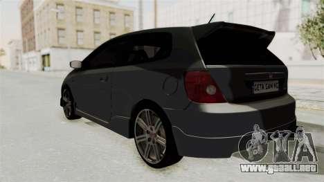 Honda Civic Type R EP3 para GTA San Andreas left