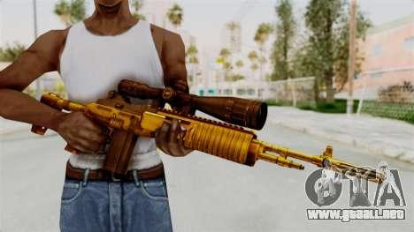 M14EBR Gold para GTA San Andreas tercera pantalla