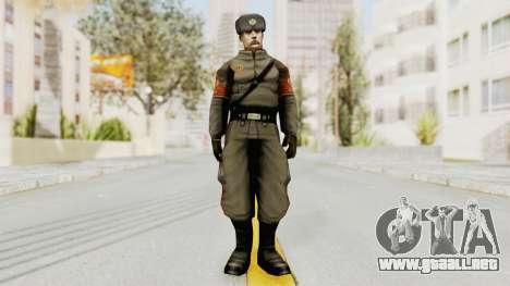 Russian Solider 1 from Freedom Fighters para GTA San Andreas segunda pantalla