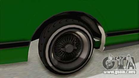 GTA 5 Dundreary Virgo Classic Custom v1 para GTA San Andreas vista hacia atrás