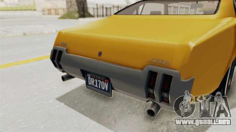 GTA 5 Declasse Sabre GT2 A IVF para vista inferior GTA San Andreas