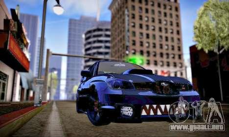 Subaru Impreza WRX STI Dark Knight para visión interna GTA San Andreas