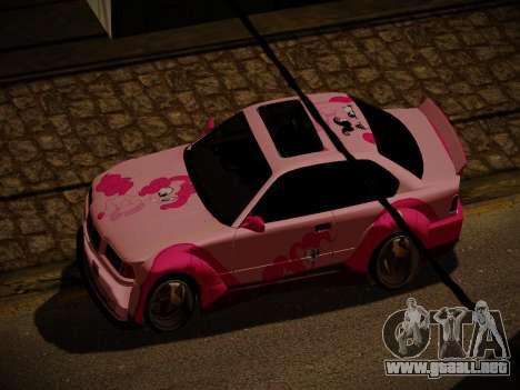 BMW M3 E36 Pinkie Pie para vista inferior GTA San Andreas