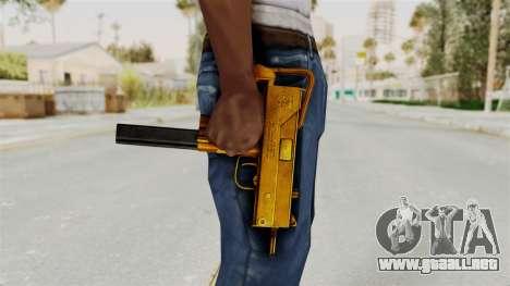 MAC-10 Gold para GTA San Andreas tercera pantalla