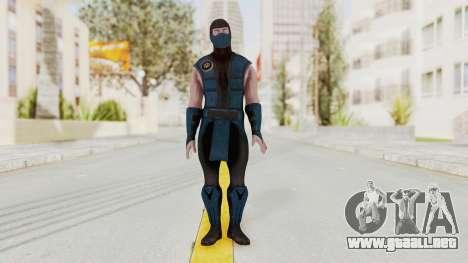 Mortal Kombat X Klassic Sub Zero v1 para GTA San Andreas segunda pantalla