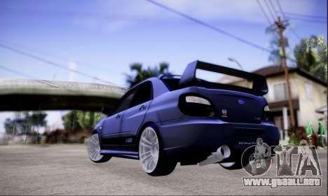 Subaru impreza WRX STi LP400 v2 para GTA San Andreas left