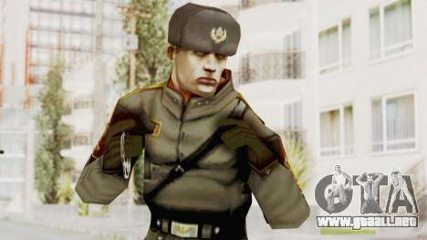 Russian Solider 1 from Freedom Fighters para GTA San Andreas