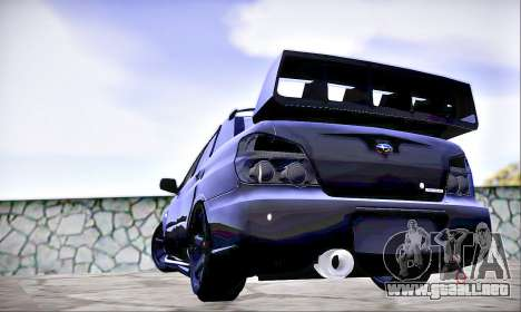Subaru Impreza WRX STI Dark Knight para GTA San Andreas left