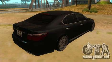 Lexus LS600HL 2008 para la visión correcta GTA San Andreas