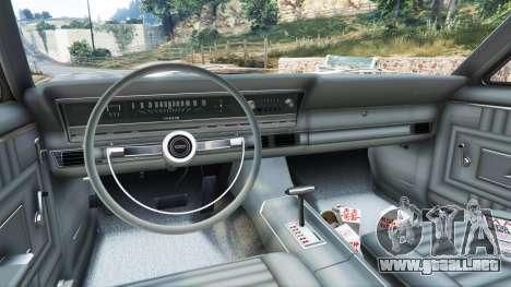 GTA 5 Ford Fairlane 500 1966 v1.1 vista lateral trasera derecha