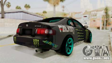 Toyota Celica GT Drift Monster Energy Falken para GTA San Andreas left