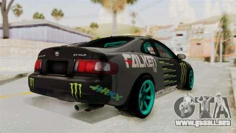 Toyota Celica GT Drift Monster Energy Falken para GTA San Andreas left