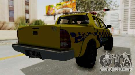 Toyota Hilux Expressway Patrol para la visión correcta GTA San Andreas
