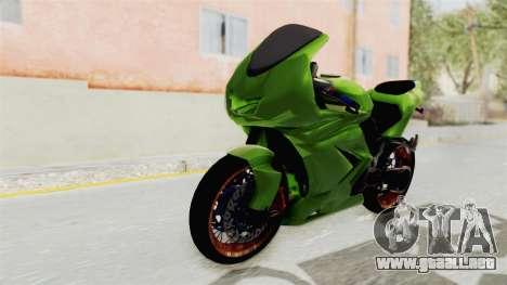 Kawasaki Ninja 250R Asian Style para la visión correcta GTA San Andreas