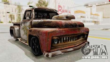 GTA 5 Slamvan Lowrider para GTA San Andreas vista hacia atrás