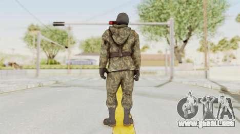 COD Black Ops Russian Spetznaz v2 para GTA San Andreas tercera pantalla