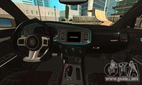 Dodge Charger para GTA San Andreas vista hacia atrás