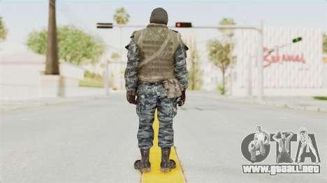 COD BO Russian Spetznas Flak MP v1 para GTA San Andreas tercera pantalla