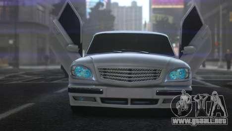 GAZ 31105 Tuning Aze Style para GTA 4 Vista posterior izquierda