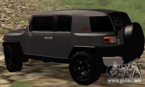 Toyota FJ Cruiser para GTA San Andreas vista posterior izquierda