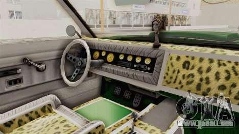 GTA 5 Declasse Sabre GT2 para visión interna GTA San Andreas