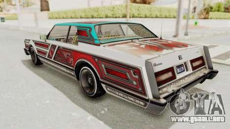 GTA 5 Dundreary Virgo Classic Custom v1 para vista inferior GTA San Andreas
