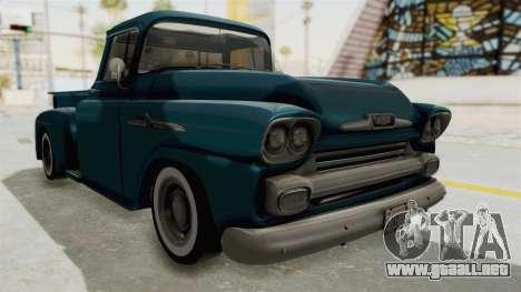 Chevrolet Apache 1958 para la visión correcta GTA San Andreas