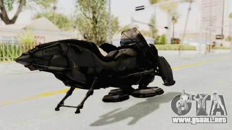 CoD Advanced Warfare - Hover Bike para GTA San Andreas vista posterior izquierda